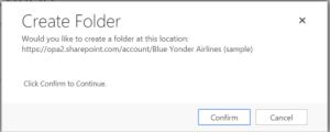 Confirm Folder